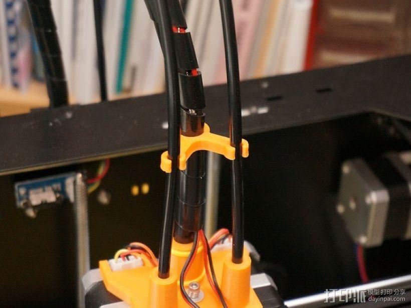 打印机丝线材料夹/导管 3D模型  图1