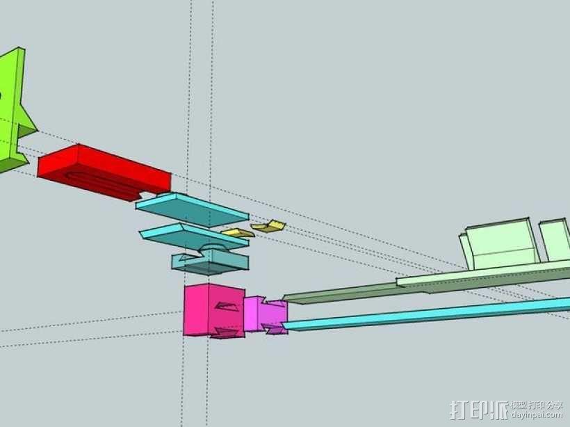 Makerbot Replicator 2X打印机摄像机支架 3D模型  图5