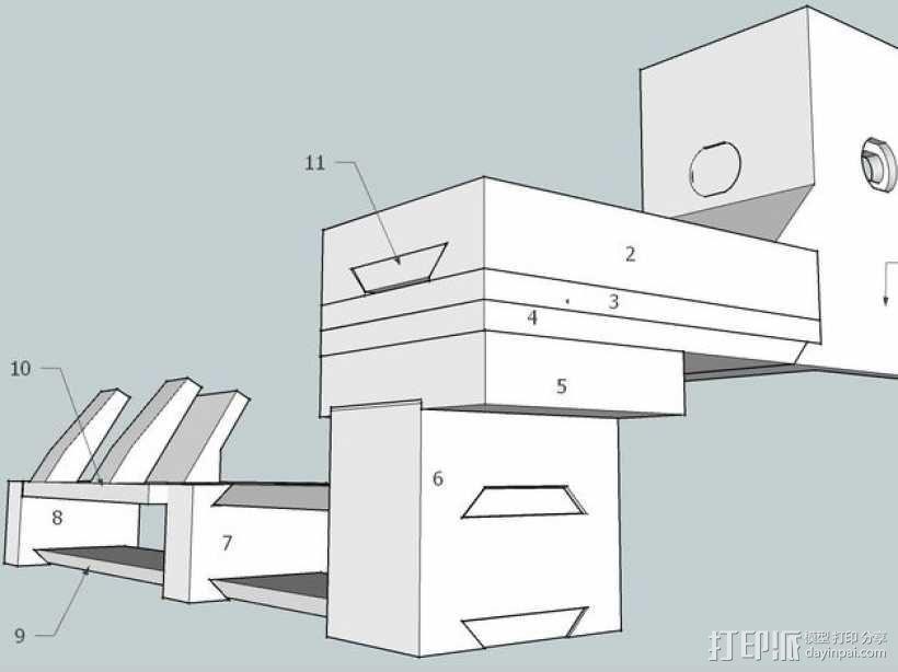 Makerbot Replicator 2X打印机摄像机支架 3D模型  图6
