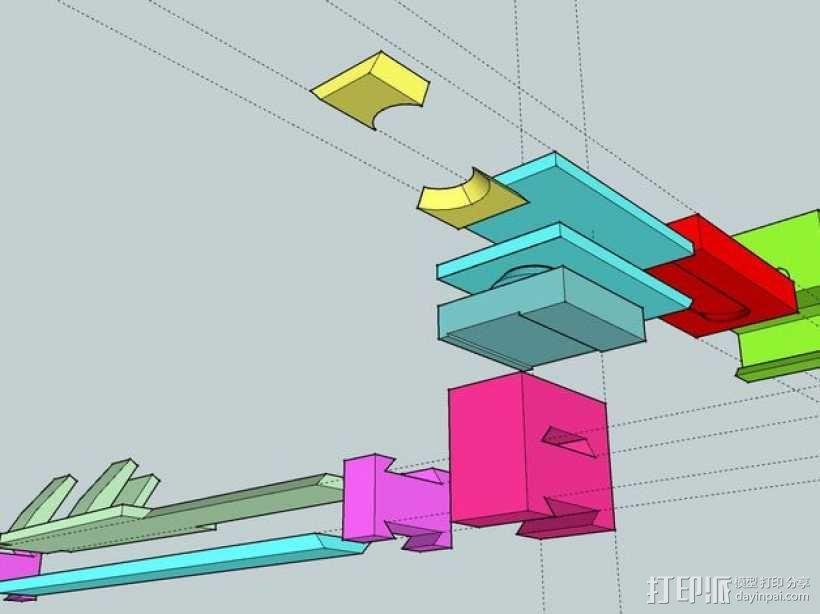 Makerbot Replicator 2X打印机摄像机支架 3D模型  图4