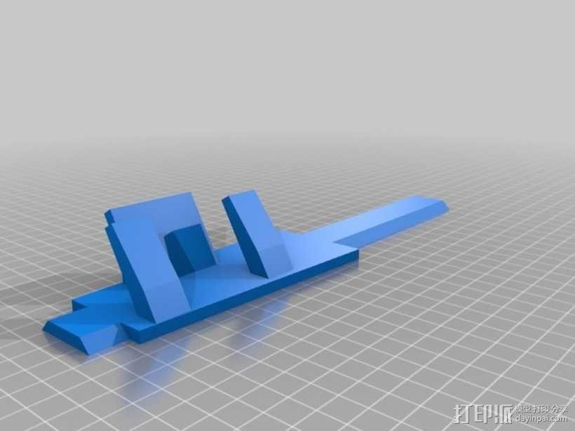 Makerbot Replicator 2X打印机摄像机支架 3D模型  图8