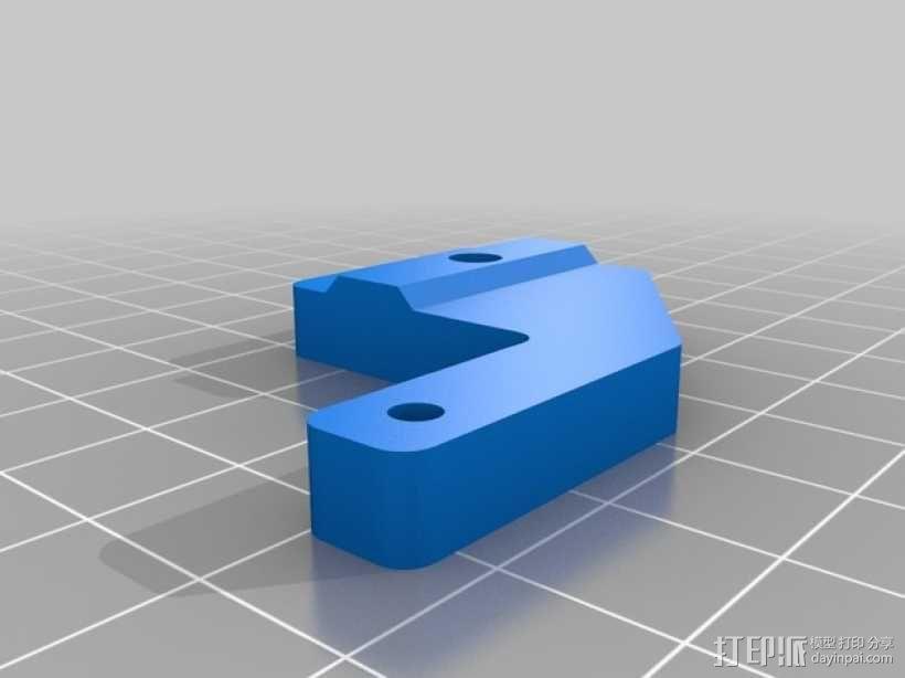 i3打印机限位开关 3D模型  图2
