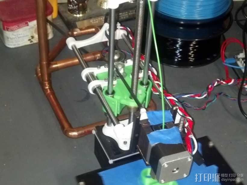 SparkinBot打印机门形架 3D模型  图1