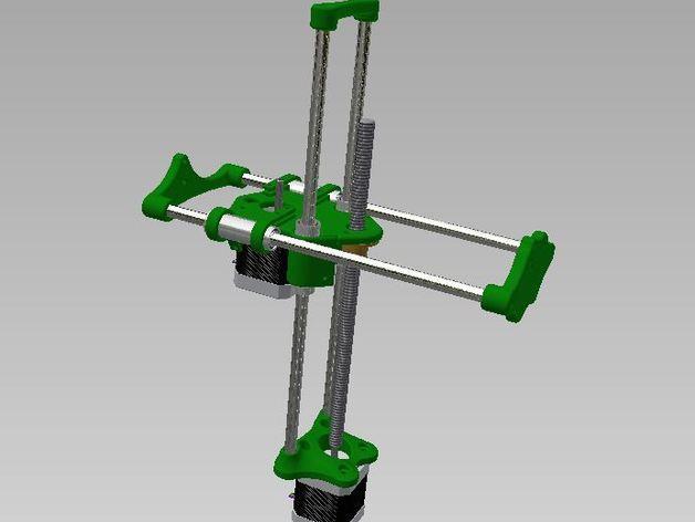 SparkinBot打印机门形架 3D模型  图6
