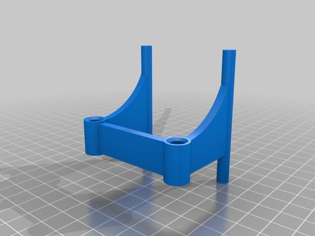 丝线材料管座 3D模型  图2