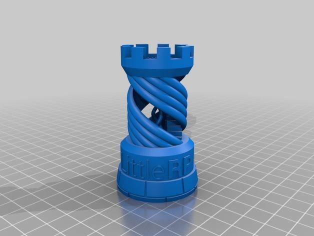 打印样品:象棋中的车 3D模型  图1