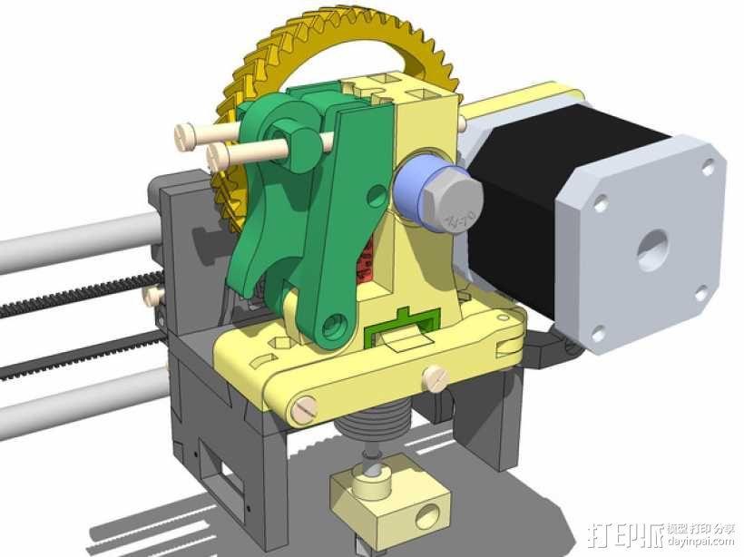 LUCAS挤出机 3D模型  图1