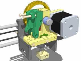 LUCAS挤出机 3D模型