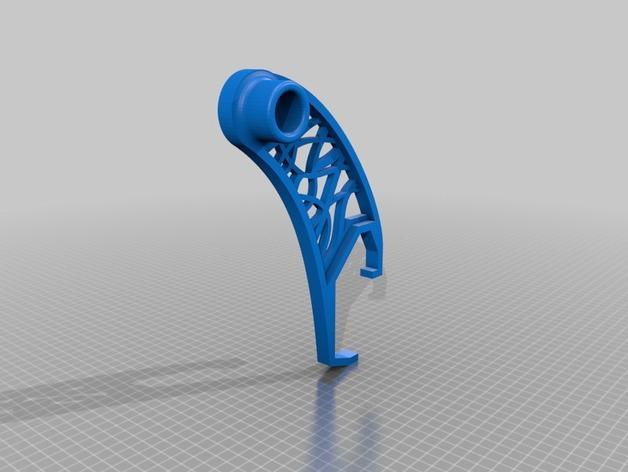 卷线轴支架 3D模型  图2