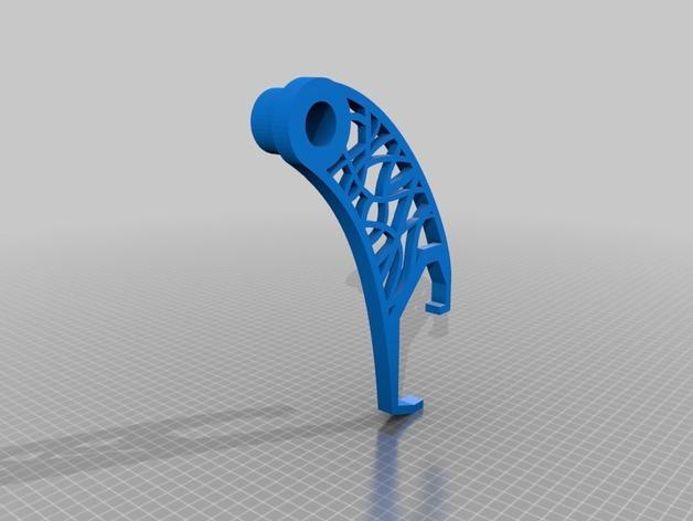 卷线轴支架 3D模型  图3