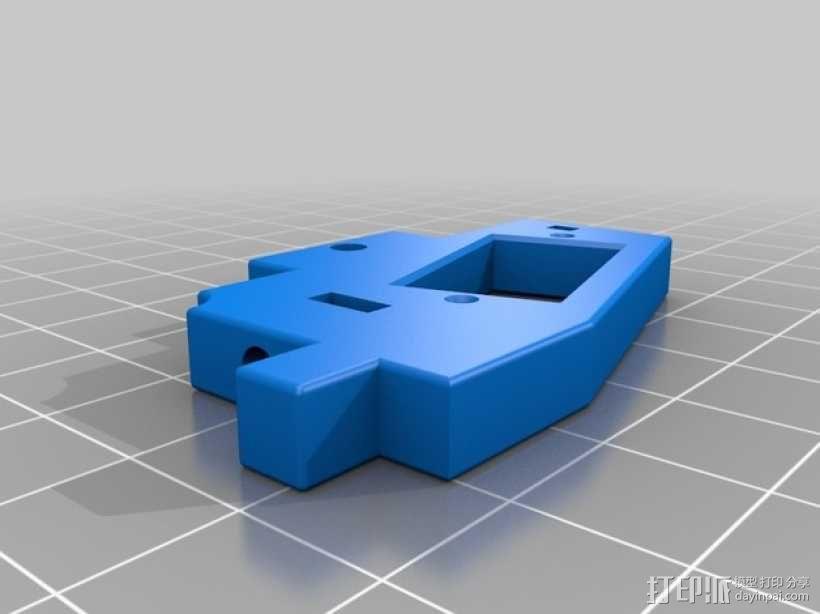 MakerFarm Prusa i3v自由床杆的Z极伺服外壳 3D模型  图3