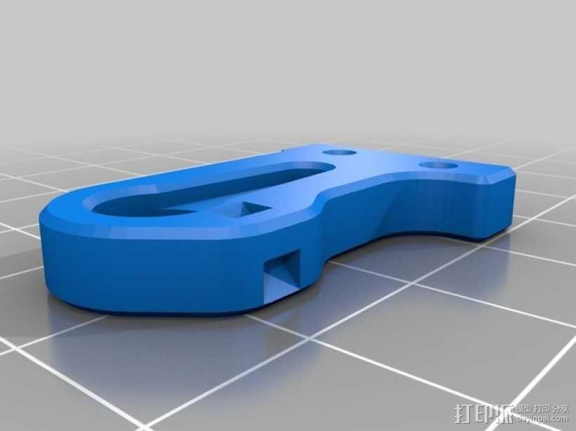 MakerFarm Prusa i3v自由床杆的Z极伺服外壳 3D模型  图4
