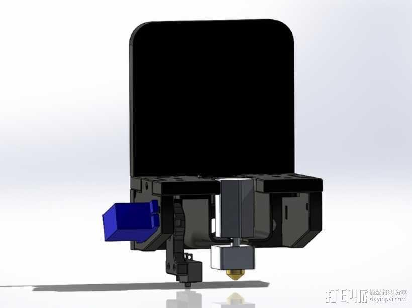 MakerFarm Prusa i3v自由床杆的Z极伺服外壳 3D模型  图5