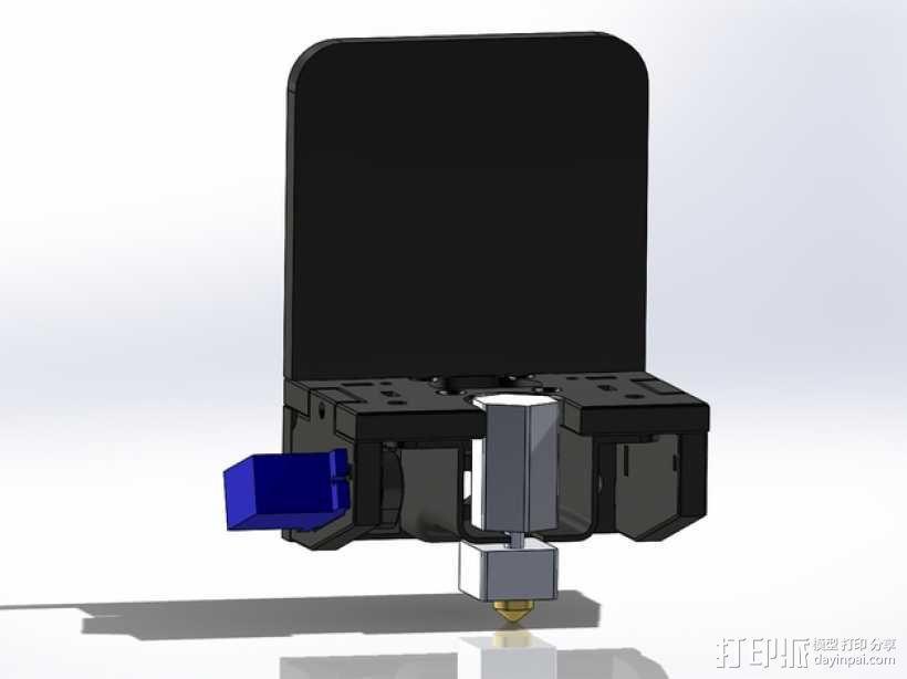 MakerFarm Prusa i3v自由床杆的Z极伺服外壳 3D模型  图9