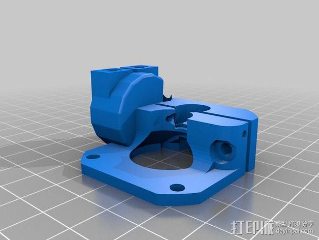 挤出机马达底座 3D模型  图5