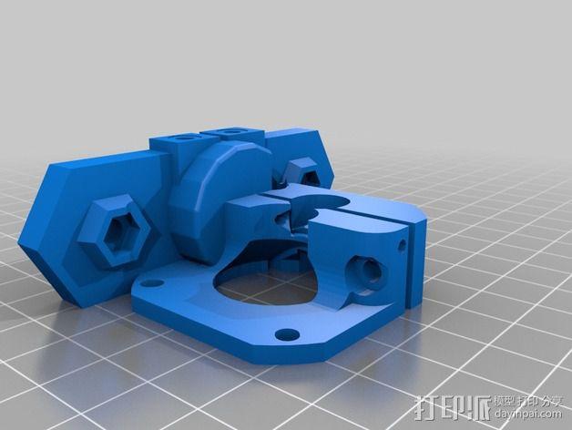 挤出机马达底座 3D模型  图6