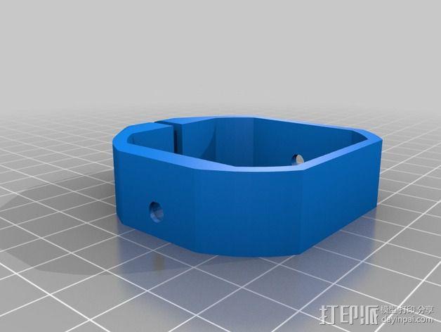 挤出机马达底座 3D模型  图13