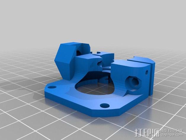 挤出机马达底座 3D模型  图16