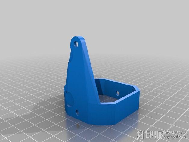 挤出机马达底座 3D模型  图14