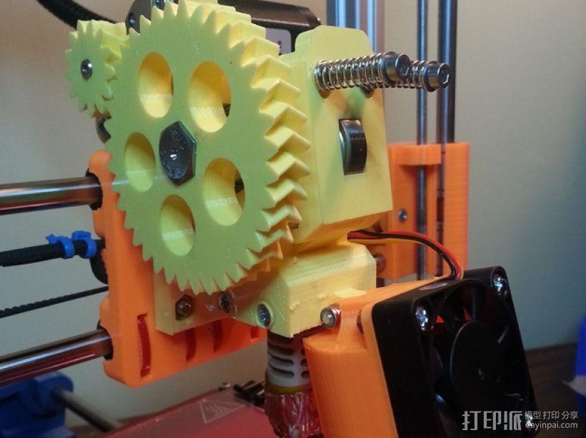 Prusa i3 3D打印机挤出机 3D模型  图1