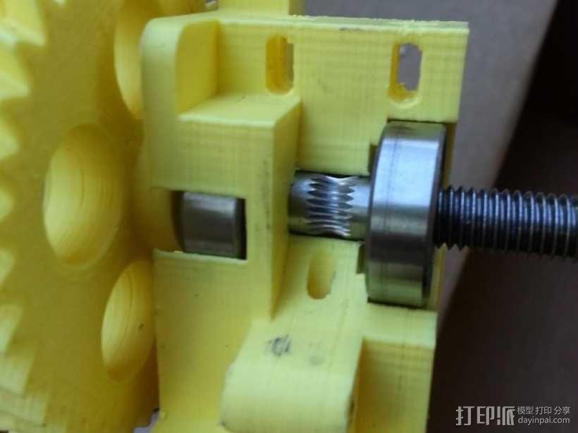 Prusa i3 3D打印机挤出机 3D模型  图2