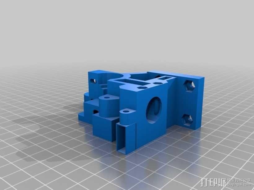 Prusa i3 3D打印机挤出机 3D模型  图3