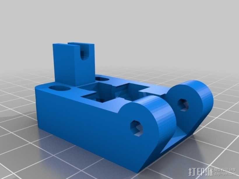 Prusa i3 3D打印机挤出机 3D模型  图4