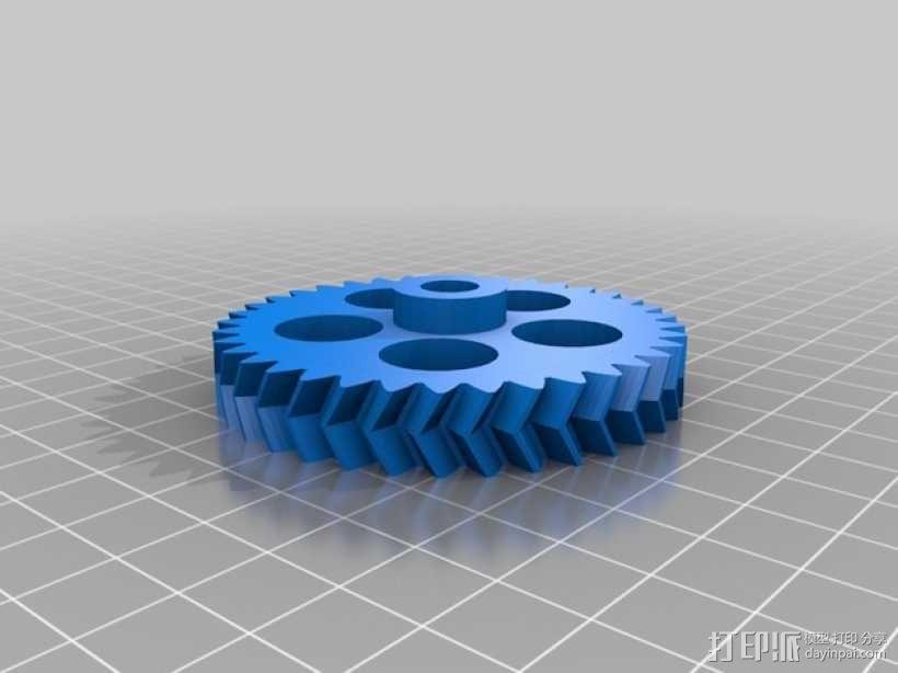 Prusa i3 3D打印机挤出机 3D模型  图5
