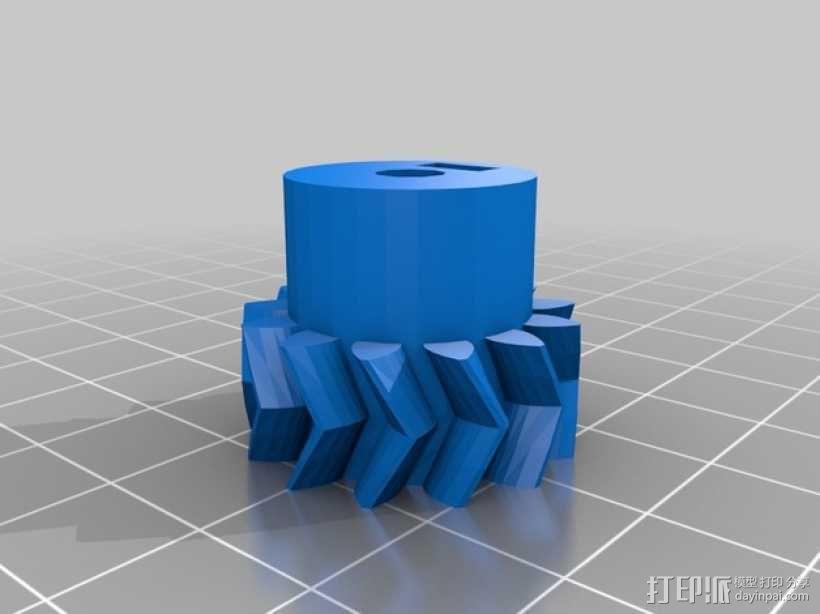 Prusa i3 3D打印机挤出机 3D模型  图6
