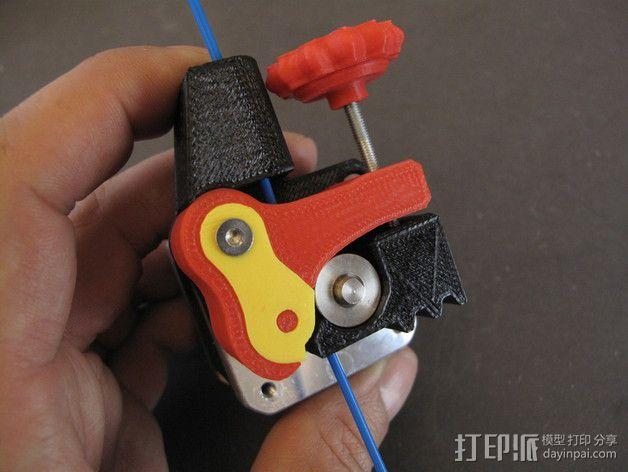 Replicator 2X的可调节挤压机驱动壳 3D模型  图2