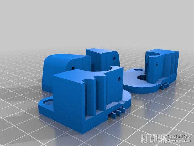 Replicator 2X的可调节挤压机驱动壳 3D模型  图6