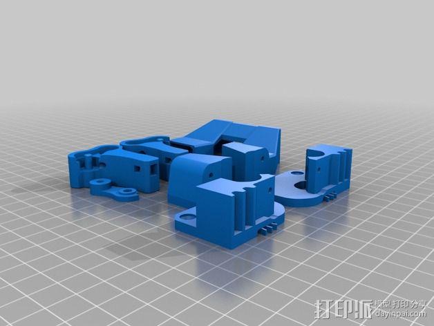 Replicator 2X的可调节挤压机驱动壳 3D模型  图5
