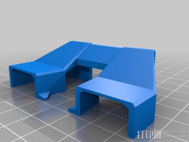 Replicator 2X的可调节挤压机驱动壳 3D模型  图8