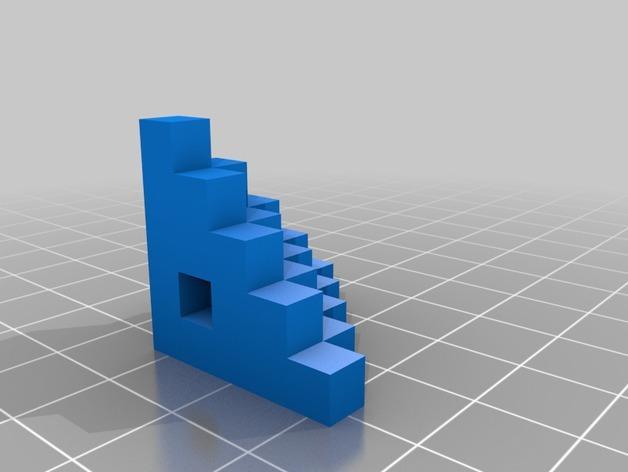 打印机测试套件 3D模型  图3