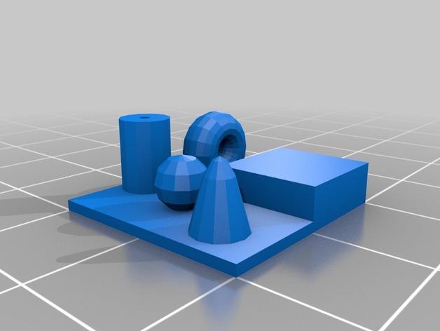 打印机测试套件 3D模型  图6