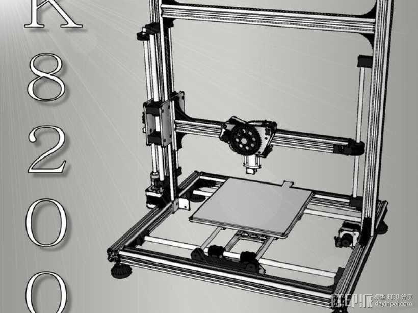 K8200/3Drag打印机模型 3D模型  图1