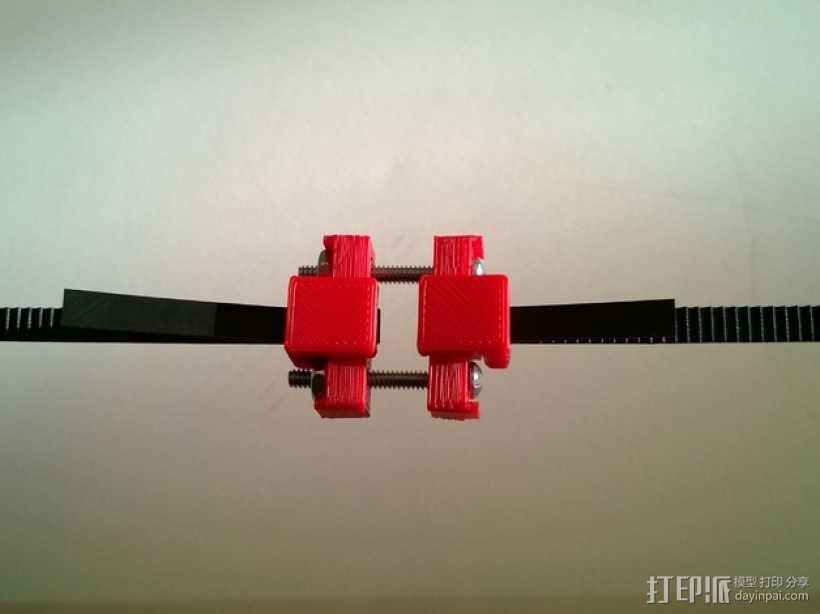 可调节皮带张紧器 3D模型  图1