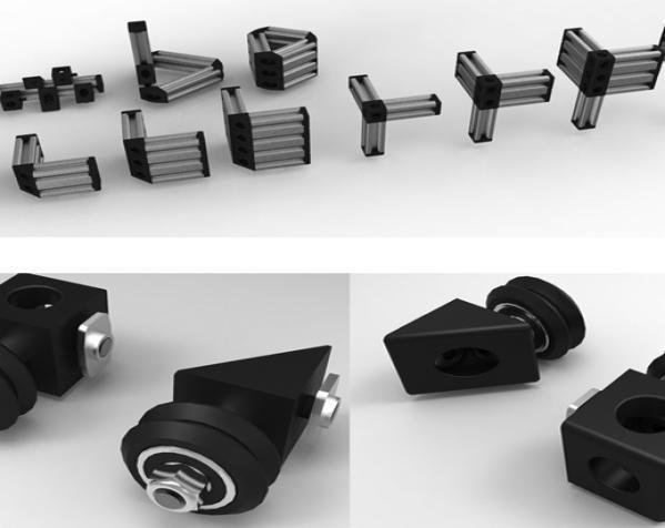 V形槽边角连接器  3D模型  图2