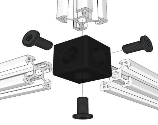V形槽边角连接器  3D模型  图6