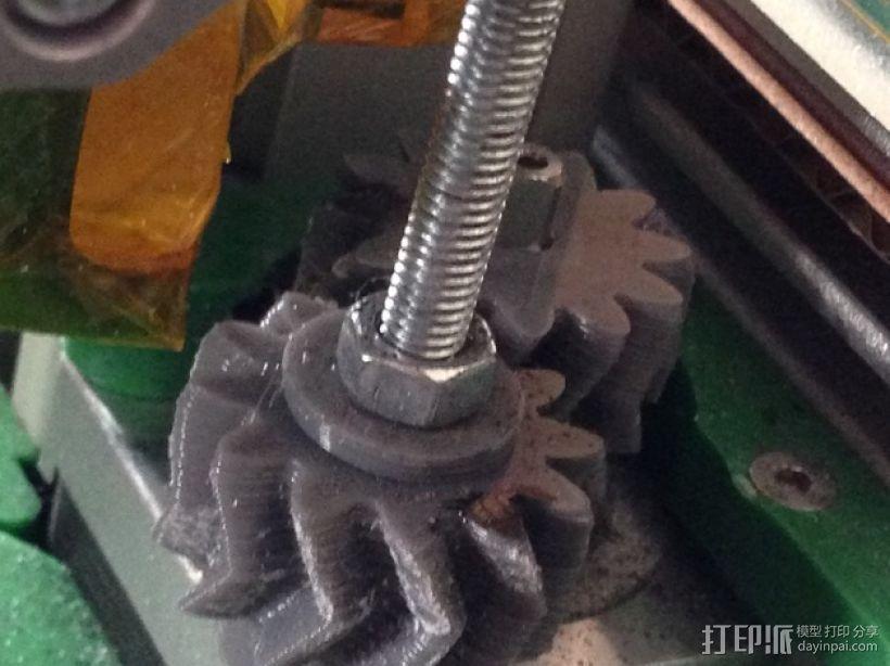 z轴人字形齿轮 3D模型  图1