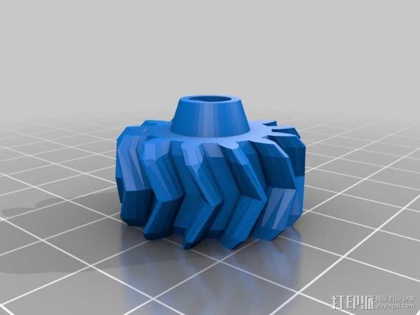 z轴人字形齿轮 3D模型  图3