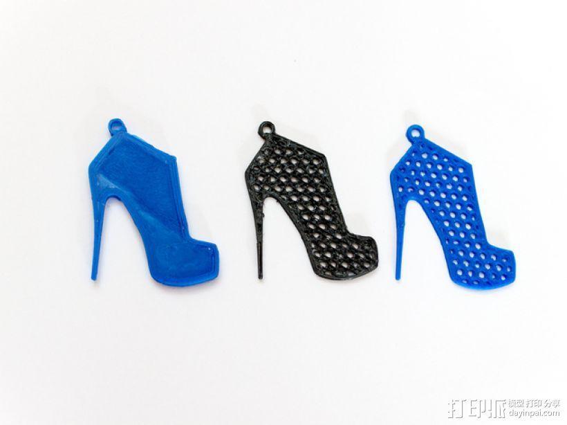高跟鞋吊坠 3D模型  图4