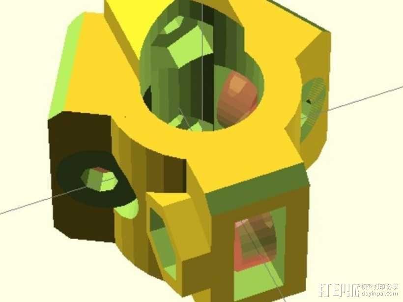 直线轴承模组 3D模型  图1