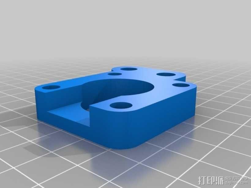 RepRap Prusa i3 打印机Y轴马达底座 3D模型  图2