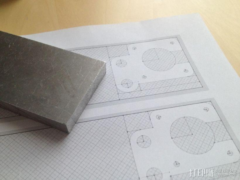 RepRap Prusa i3 打印机Y轴马达底座 3D模型  图5