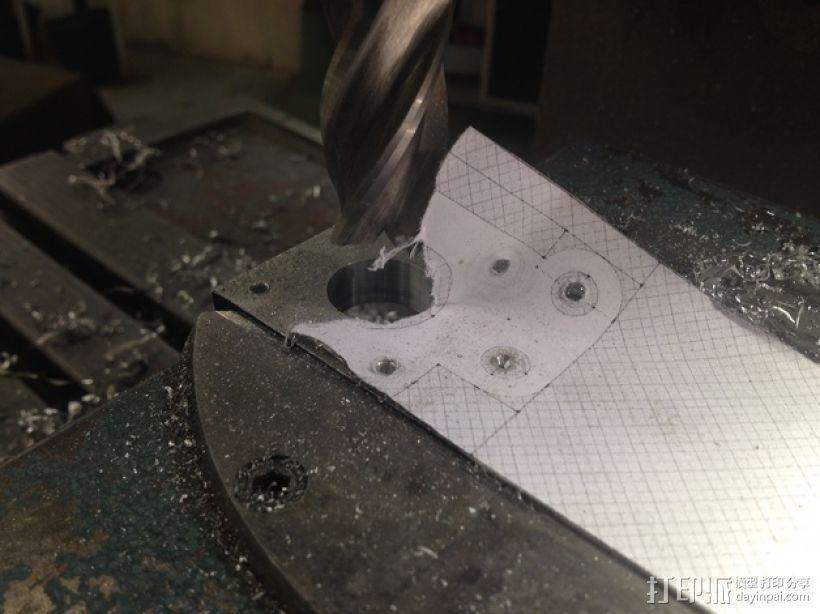 RepRap Prusa i3 打印机Y轴马达底座 3D模型  图8