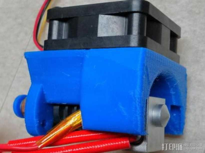 Kossel Mini打印机风扇保护罩 3D模型  图1