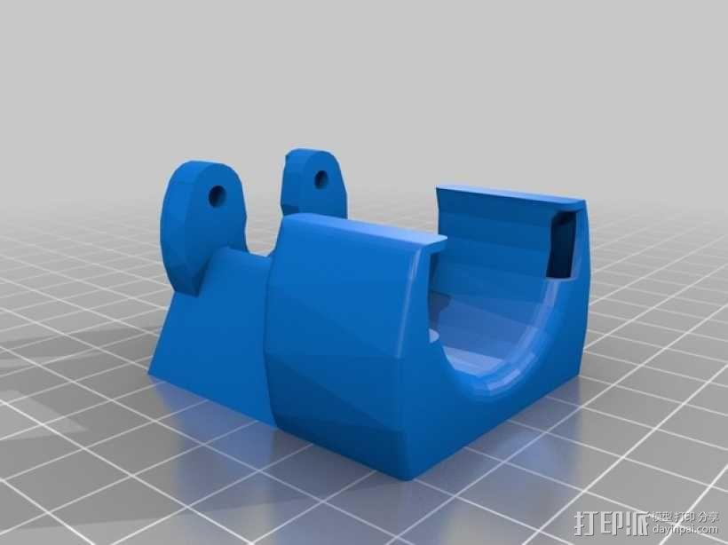 Kossel Mini打印机风扇保护罩 3D模型  图3