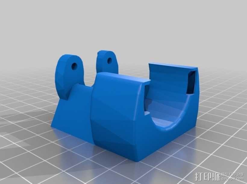 Kossel Mini打印机风扇保护罩 3D模型  图2