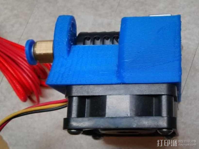Kossel Mini打印机风扇保护罩 3D模型  图4